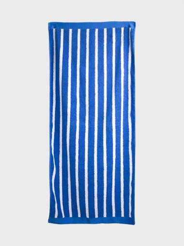 [BLUE BEACH TOWEL]SLIM STRIPE