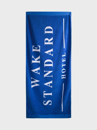 [BLUE BEACH TOWEL]WAKE STANDARD HOTEL