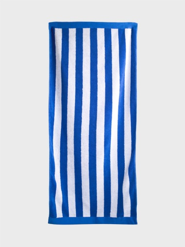 [BLUE BEACH TOWEL]WIDE STRIPE