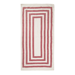 [VINTAGE BEACH TOWEL]RED
