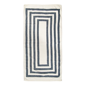 [VINTAGE BEACH TOWEL]NAVY